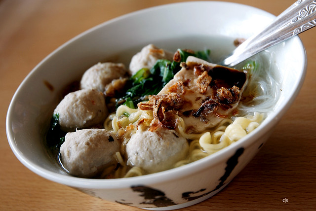 Bakso a typical seafood from Bali