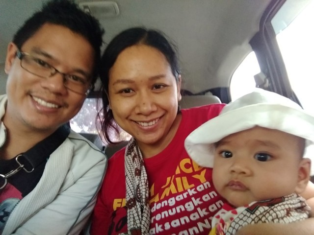 Going around Bali with a baby