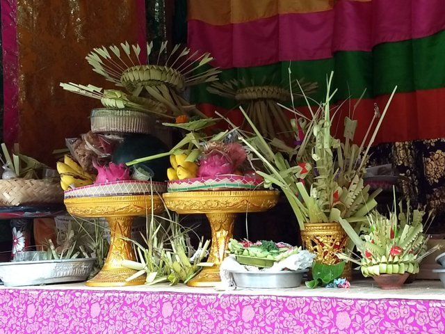 offerings on the table