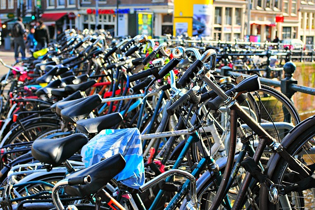 Bicycles are the way to go around the city Amsterdam