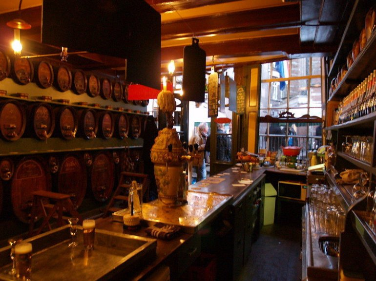 Three little bottles, one the best and most popular bars in Amsterdam