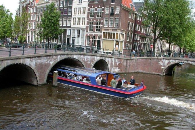 Boat canal trip amsterdam