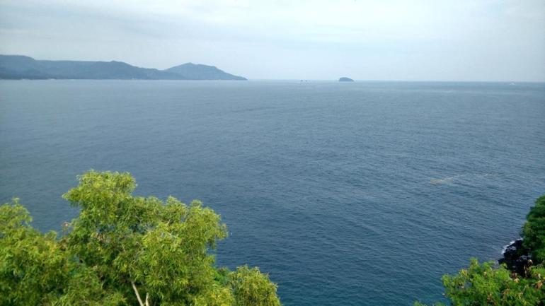 Top panoramic view at Padang Bai. Things to do in Candidasa