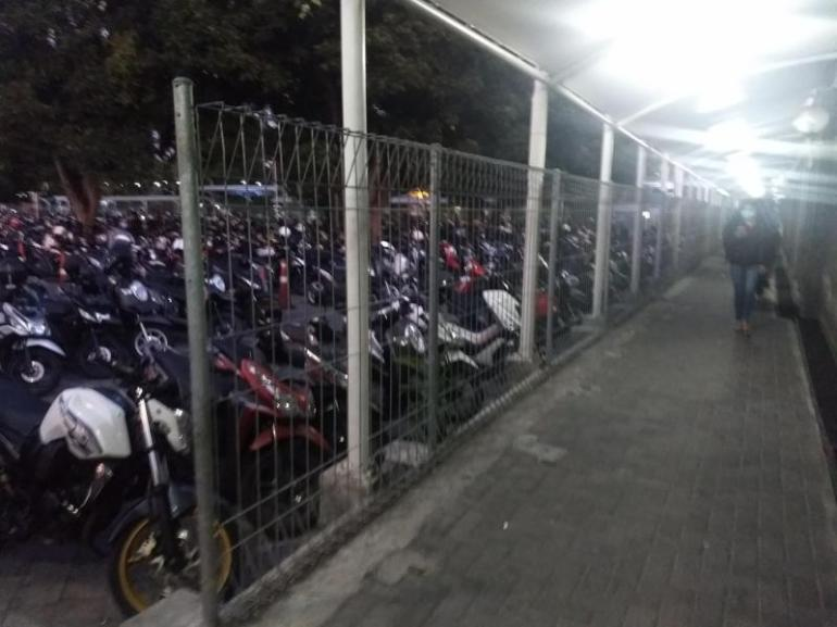 Scooters parked bali airport