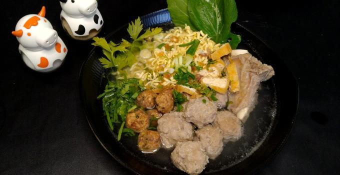 How to make Bakso an Indonesian meatballs soup