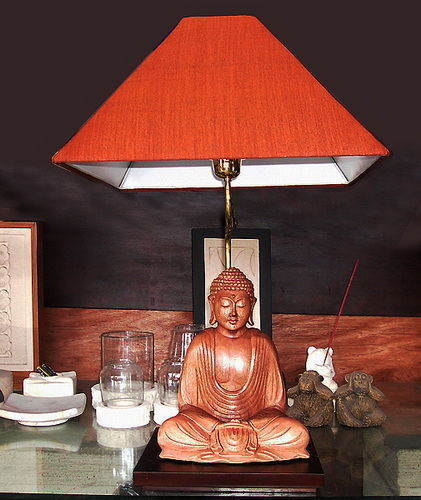 night lamp made from suar wood