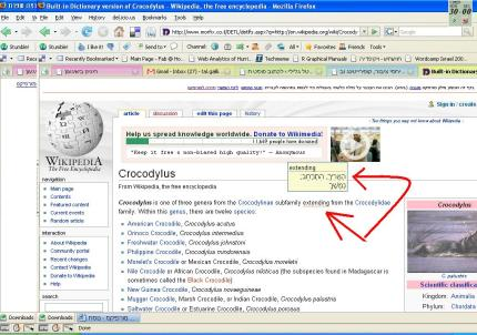 מורפיקס 2.0 תוצאות החיפוש בוויקיפדיה