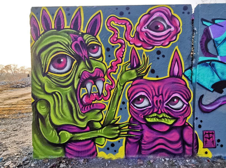 Sneaky lil' Demon- TM Street Art