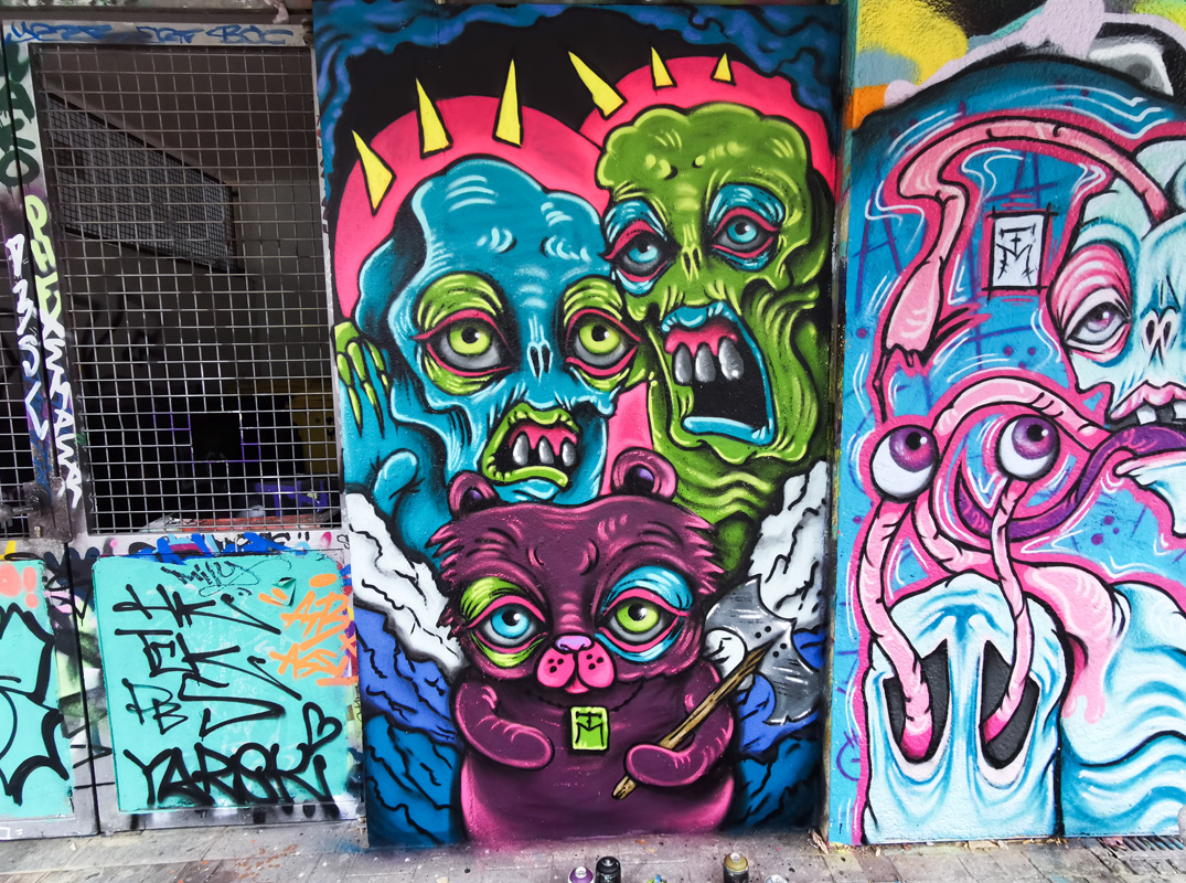 Colorful Demons Graffiti Characters by TM
