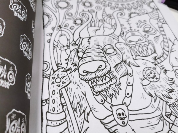 Creepy Creatures Coloring Book Detail 5