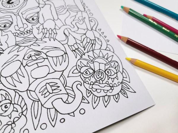 Creepy Creatures Coloring Book Detail 1
