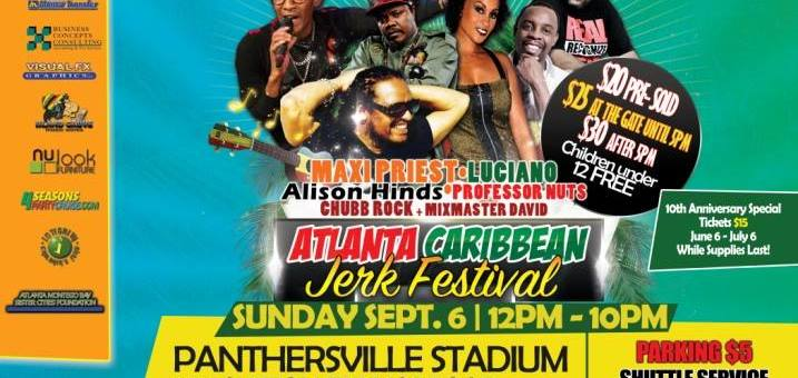 Event Preview: 10th Annual Grace Atlanta Jerk Festival @ Panthersville Stadium 9/6