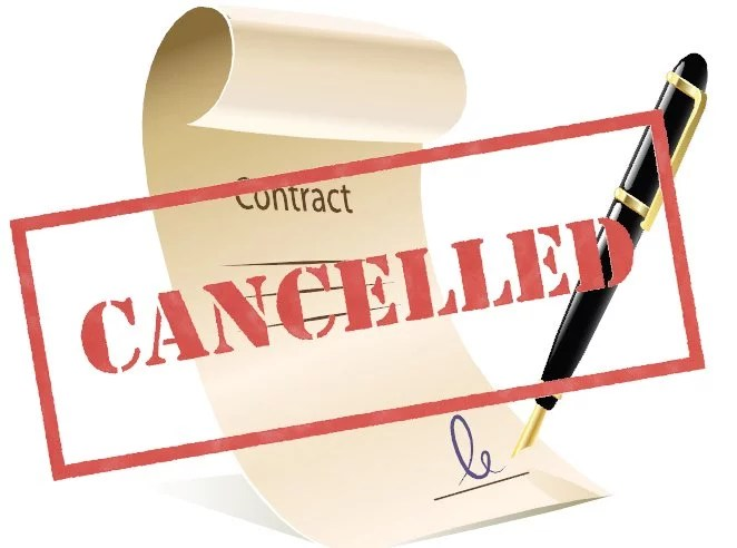 What does discharge of a contract mean?
