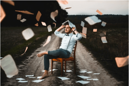 Books Falling