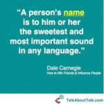 Dale Carnegie name quote