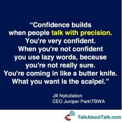 Jill Nykoliation confidence quote