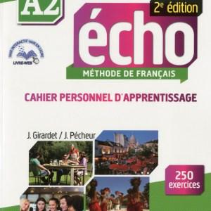 ECHO A2 CAHIER PERSONNEL D'APPRENTISSAGE