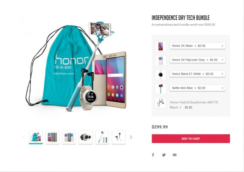 honor 5x independence day sale