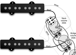Jazz Bass series switch wiring when my pickups are already