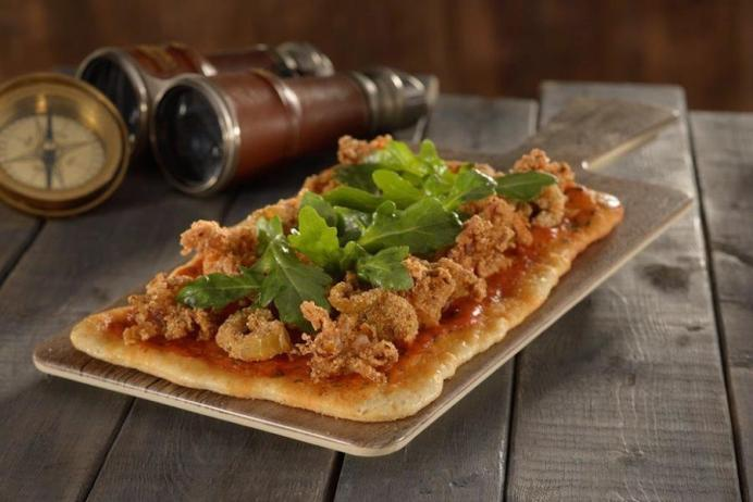 Fried Calamari Flatbread with Spicy Harissa Coming to Jock Lindsey's Hangar Bar at Downtown Disney at Walt Disney World Resort