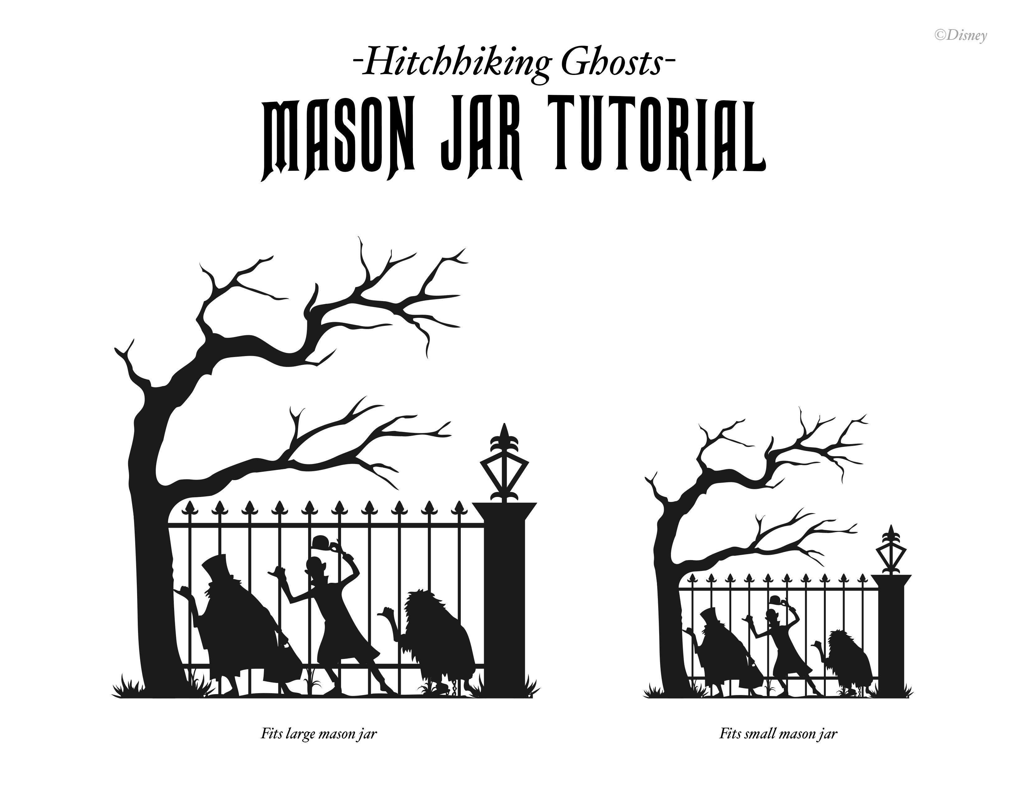 Halloween Diy Haunted Mansion Mason Jar Craft Tutorial