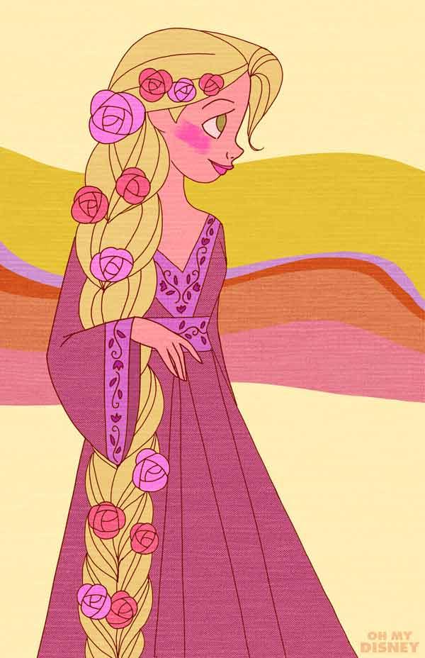 Retro-Inspired Rapunzel