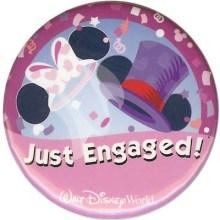 Disney World Just Engaged Button