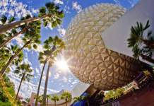 epcot spaceship earth sun