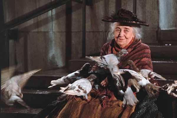 Mary Poppins feed the birds