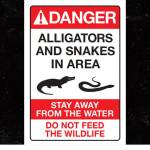 Disney alligator and snake sign