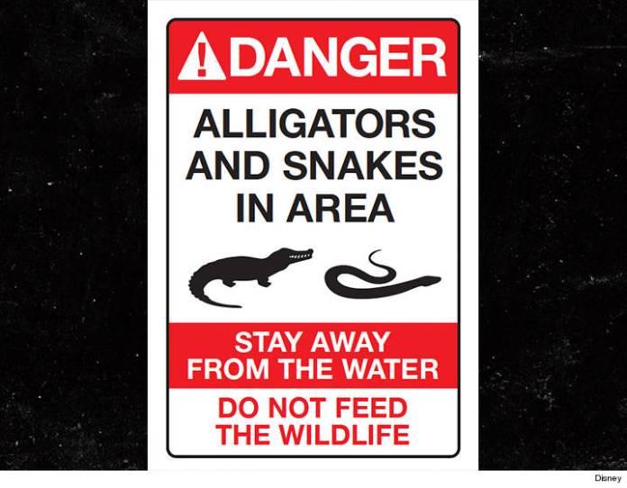 Disney alligator and snake sign