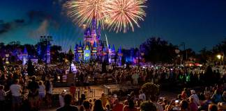 Happily Ever After Castle Fireworks