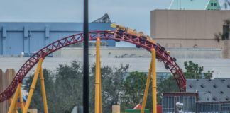 Slinky Dog Dash Roller Coaster Begins Testing