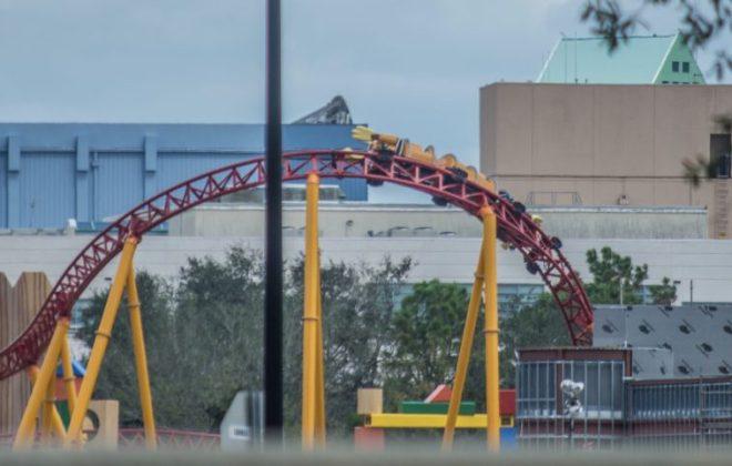 Slinky Dog Dash Roller Coaster Begins Testing