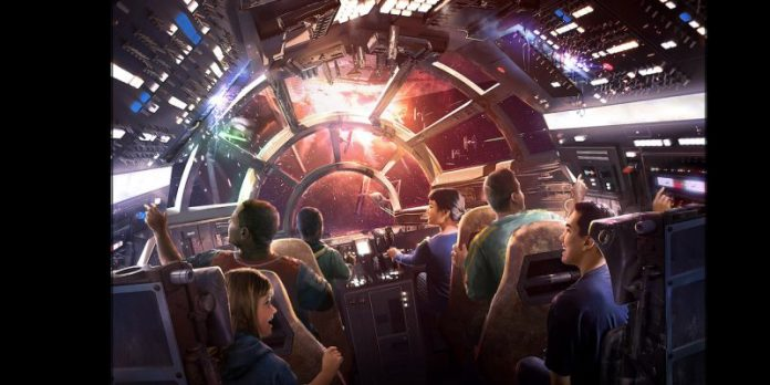 Millennium falcon ride artwork concept