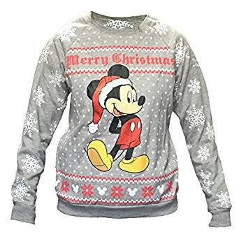 Disney Women's Mickey Mouse Ugly Christmas Sweater Fleece Sweatshirt