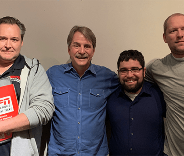 Jeff Foxworthy Visits Old Pal Jim Villanucci On 101 7 The Team In Albuquerque Pictured Above Is Comic Jeff Foxworthy With Afternoon Drive Talk Show Host