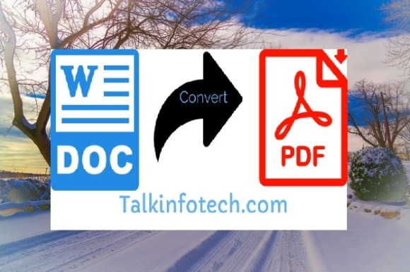convert word to pdf online