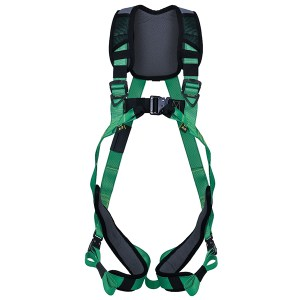 MSA V-FIT Full Body Harness with back D-Ring, Front Loops and Bayonet Buckles