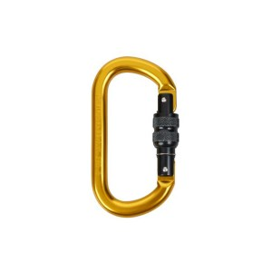 Aluminum screw gate carabiner