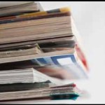 8462959 - close up image of several magazines and books