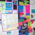 Student reflection wall at A. Montoya Elementary School