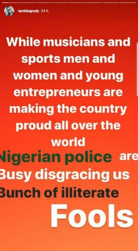 """Rudeboy calls out Nigerian Police, referred to them as """"Bunch Of Illiterate Fools"""""""