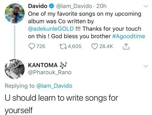 Much Love! Davido calls Wizkid a legend, an icon in the industry