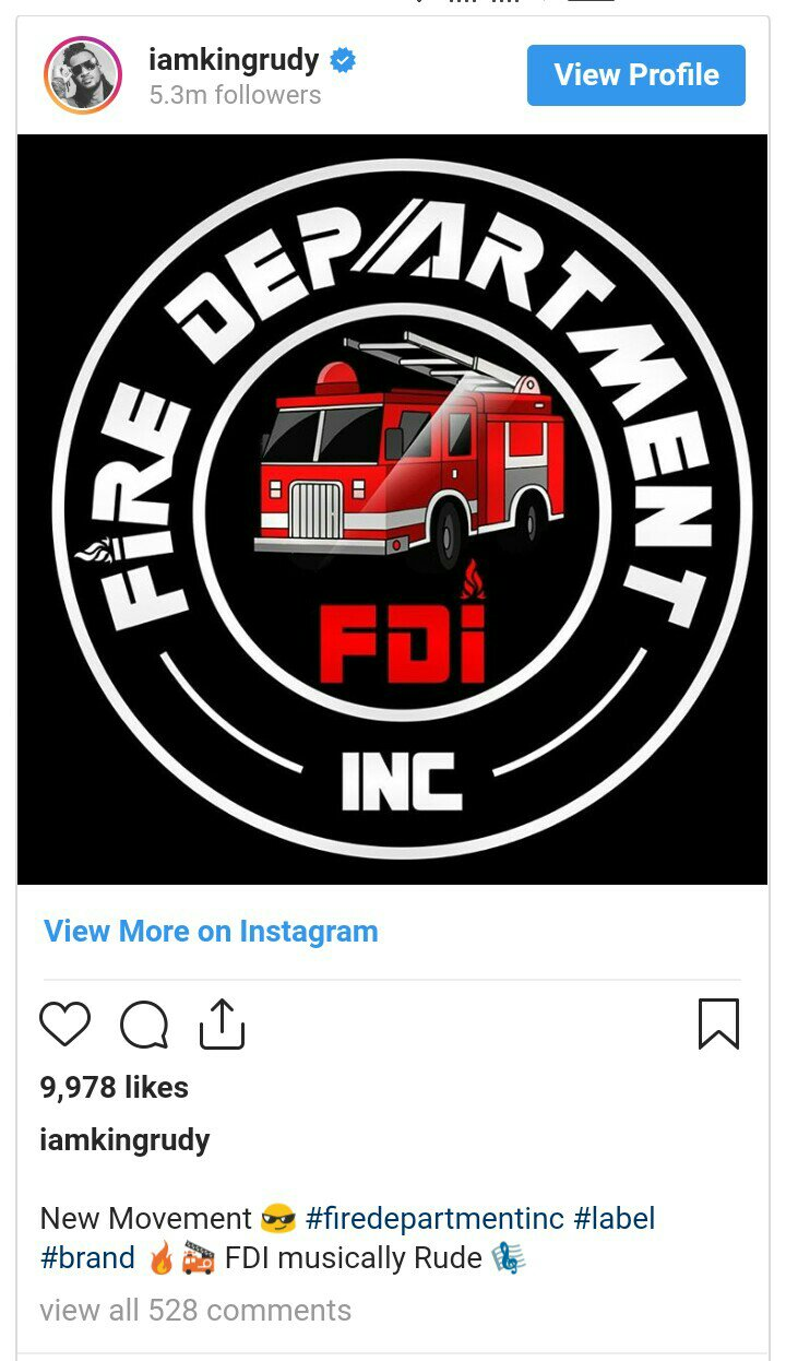 "Rudeboy launches new record label ""Fire Department Inc"""