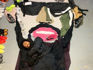 Man makes an art of Phyno with cloths, shoes and towels