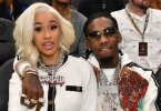Offset punches man who threw drink at Cardi B (Video)