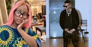 'Send me dollars' - Wizkid replies DJ Cuppy after she asked him to feature in her EP