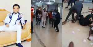 Prophet Chukwuemeka Odumeje sprays money on shoppers at a mall in Enugu (video)