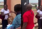 Watch how parents disinfected thier daughter who returned from Lagos (video)